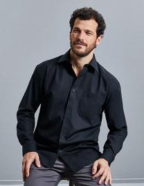 Men`s Long Sleeve Classic Pure Cotton Poplin Shirt