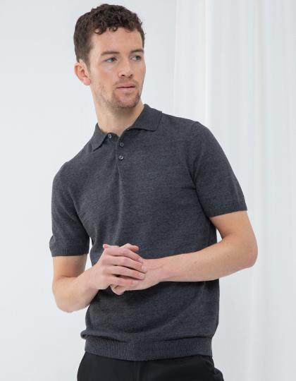 Men`s Knitted Short Sleeved Polo